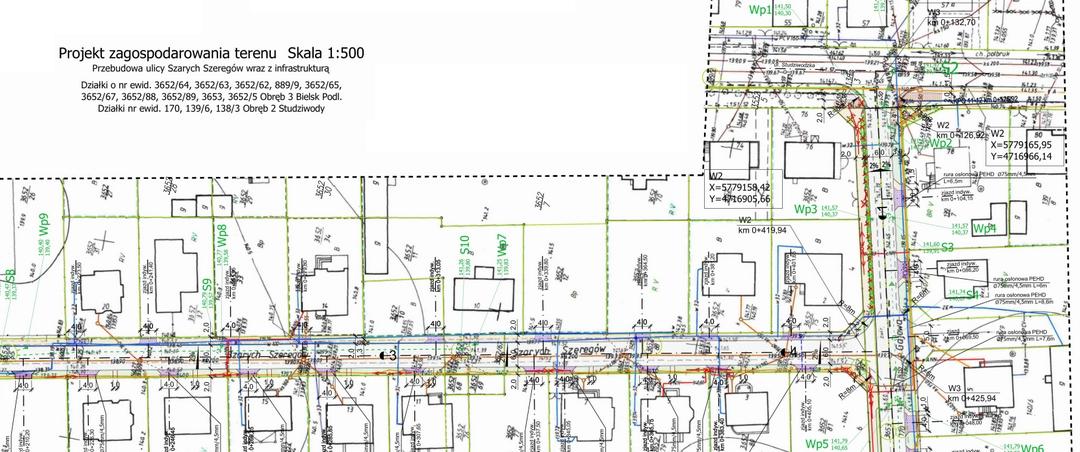 DROEM Mirosław Jakubiuk - projekt przebudowy ulicy Szarych Szeregów w dzielnicy Studziwody w Bielsku Podlaskim wraz z infrastrukturą